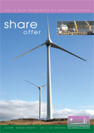 Image:  Cover of community ownership share prospectus