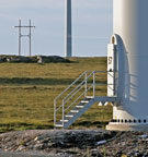 Image:  Wind turbine base and hardstanding